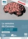 """[COVID19] Annulation de """"La semaine du cerveau"""""""
